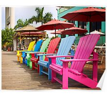 Fort Myers Beach Chairs Poster