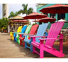 Fort Myers Beach Chairs Photographic Print