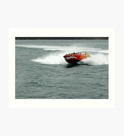Speed Boat Art Print