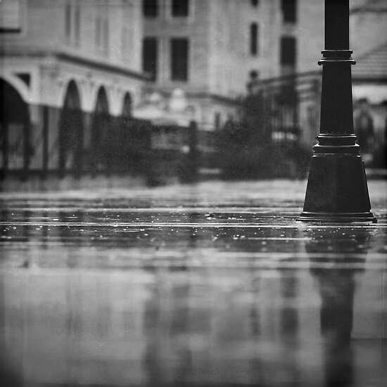 rainy day in Jerusalem by Victor Bezrukov