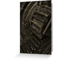 Gears And Spiderwebs Greeting Card