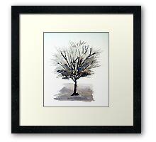 Solo Tree - Monochrome Framed Print