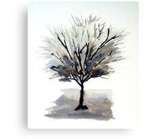 Solo Tree - Monochrome Canvas Print