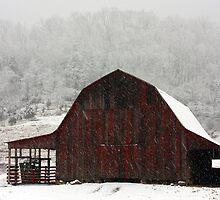 Snow on the Barn by XxJasonMichaelx