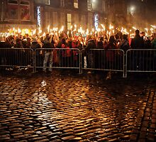 Edinburgh's Hogmanay - Torchlight Parade by Kaitlin Kelly