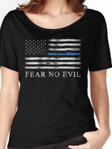 Blue Line - Fear No Evil Women's Relaxed Fit T-Shirt