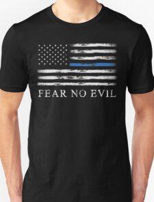 Blue Line - Fear No Evil Unisex T-Shirt