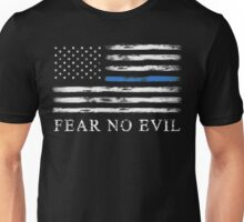 Blue Line - Fear No Evil Unisex T-Shirt