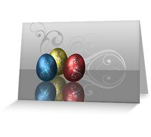 Glamour Easter Eggs Greeting Card