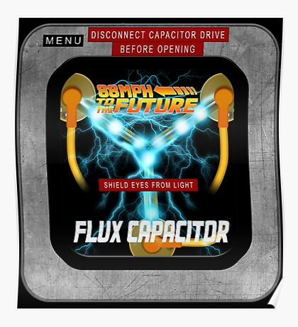Flux Capacitor 88MPH to the future Poster