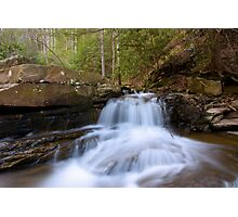 Waterfall in the Mountains Photographic Print