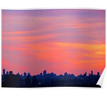 Winter dusk, New York City  Poster