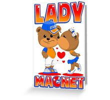 Lady Magnet Greeting Card