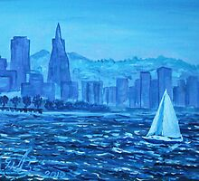 Oil Painting - San Francisco Bay. 2012 by Igor Pozdnyakov