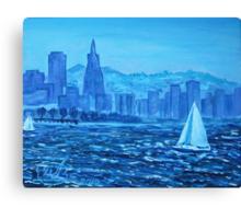 Oil Painting - San Francisco Bay. 2012 Canvas Print