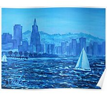 Oil Painting - San Francisco Bay. 2012 Poster