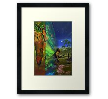 back to earth Framed Print