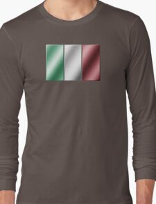 Italian Flag - Italy - Metallic Long Sleeve T-Shirt