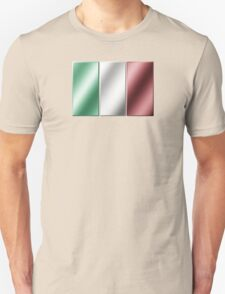 Italian Flag - Italy - Metallic T-Shirt