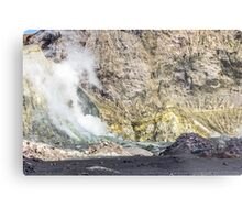Volcano Helicopter Metal Print