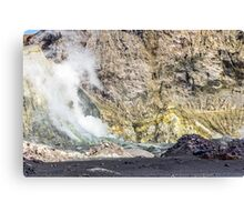 Volcano Helicopter Canvas Print