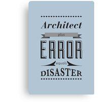 Error Typography Canvas Print