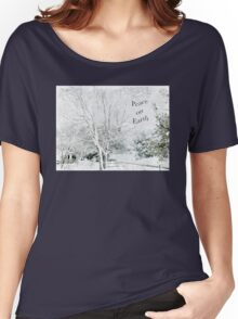 """Snow Fantasy """"Peace On Earth"""" ~ Greeting Card Plus More! Women's Relaxed Fit T-Shirt"""