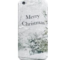 """Snow Fantasy """"Merry Christmas"""" ~ Greeting Card Plus More! iPhone Case/Skin"""
