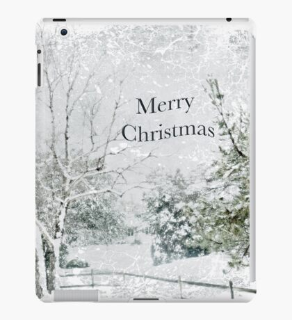 "Snow Fantasy ""Merry Christmas"" ~ Greeting Card Plus More! iPad Case/Skin"