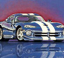 1996 Dodge Viper GTS Coupe by brianrolandart