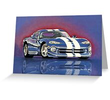 1996 Dodge Viper GTS Coupe Greeting Card