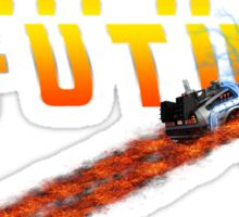 88MPH to the Future out of time Sticker