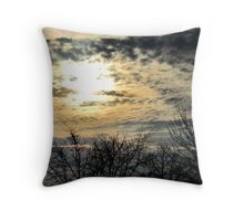 Winter skies Throw Pillow