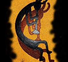 "Kokopelli ""Golden Harvest"" by Vicki Pelham"