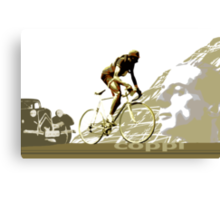 retro FAUSTO COPPI Tour de France cycling poster Canvas Print