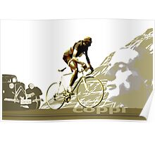 retro FAUSTO COPPI Tour de France cycling poster Poster