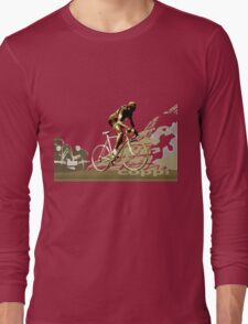 retro FAUSTO COPPI Tour de France cycling poster Long Sleeve T-Shirt
