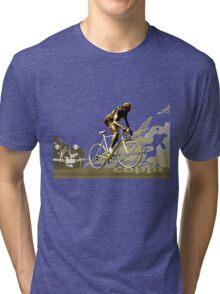 retro FAUSTO COPPI Tour de France cycling poster Tri-blend T-Shirt