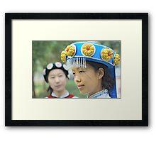 Chinese Naxi Girl 3 Framed Print