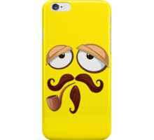 Yellow Smiley Face with Pipe and Mustache iPhone Case/Skin