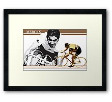 vintage poster EDDY MERCKX: the cannibal Framed Print