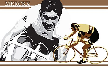 vintage poster EDDY MERCKX: the cannibal by SFDesignstudio