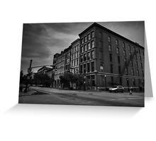 Downtown Louisville - W Main St 004 BW Greeting Card
