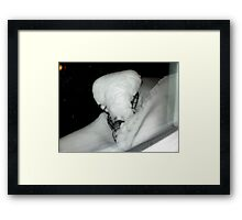 Snow Sculpture  in Nature Framed Print