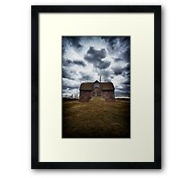 the devil in me said, go down to the shed.... Framed Print