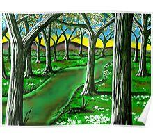 """Springtime Path"" Poster"