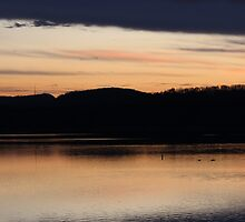 Sunset at the reservoir by astrochuck