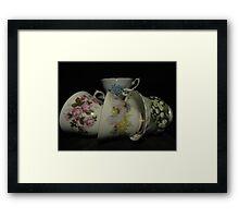 Grandma's Tea Cups Framed Print