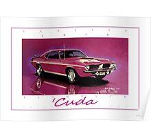 1970 Plymouth 'Cuda ver 2 Poster
