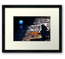 Blue Ball Framed Print
